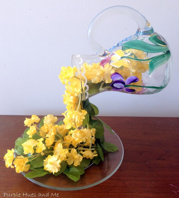 How To Create A Flowing Flowers Effect Pitcher   Hometalk