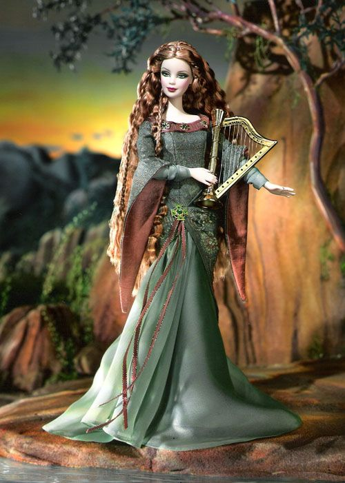 The Bard Barbie Doll Legends of Ireland Dolls of the World Collection 2004
