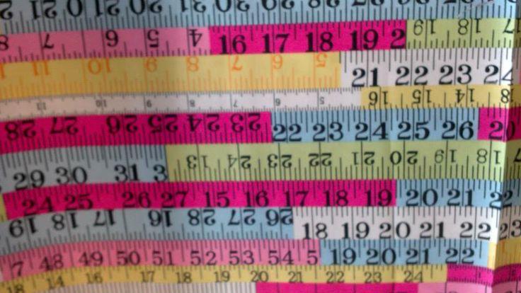 Tape measure Multi coloured - 100% Cotton