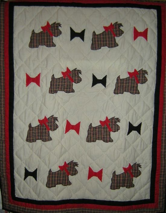 Quilt Pattern For Scottie Dog : 77 best images about Scottie Dogs: Quilt on Pinterest Quilt, Embroidered quilts and Scottie dogs