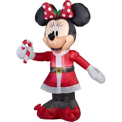5ft Inflatable Disney Minnie Mouse Candy Cane Airblown Christmas Outdoor  Decor #GemmyAirblown