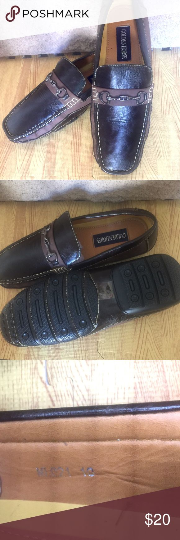 🚘 Men's Driving Shoes 🚙 Men's, brown, size 10, driving shoes. Never worn. Synthetic uppers & soles. Goldenhorse Shoes Loafers & Slip-Ons