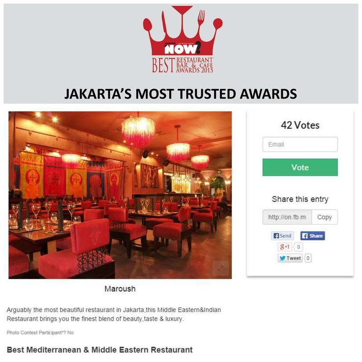 Give your vote for Maroush for The Best Mediterranean & Middle Eastern Restaurant on #BRBCA2015! #Jakarta #NOWJakarta #LifeinTheCapital #BRBCA #Best #Mediterranean #Middle #Eastern #MiddleEastern #Restaurant #Category #Maroush #MaroushJakarta #MaroushJKT #Turkish #Nomi #Inc #NomiInc #Brunch #Lunch #Diner #Dine #Dining #Hangout