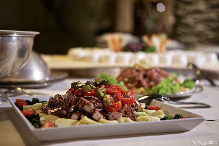 Italian dish in a wedding menu at Torre del Parco