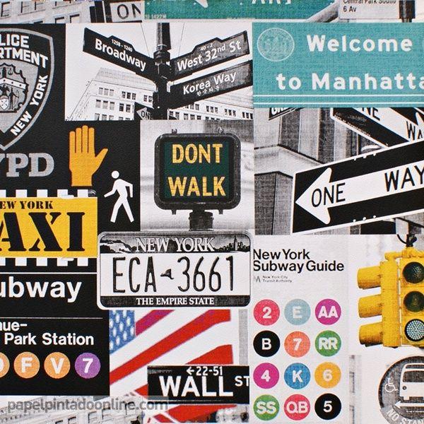 Papel pintado funny walls 257 5608 con im genes de - Papel pintado nueva york ...