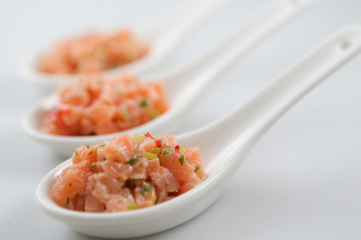 Salmon Ceviche Canape - WA Finger Food Catering Perth Catering to Perth and surrounding areas since 1996. CALL US NOW 1800 216 902!