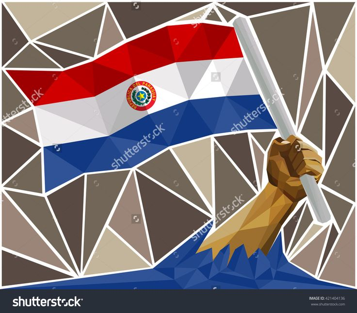 Man's Arm Raising The National Flag Of Paraguay Image ID:421404136 Copyright: Craitza DOWNLOAD: http://www.shutterstock.com/pic-421404136/stock-vector-man-s-arm-raising-the-national-flag-of-paraguay.html?rid=501709