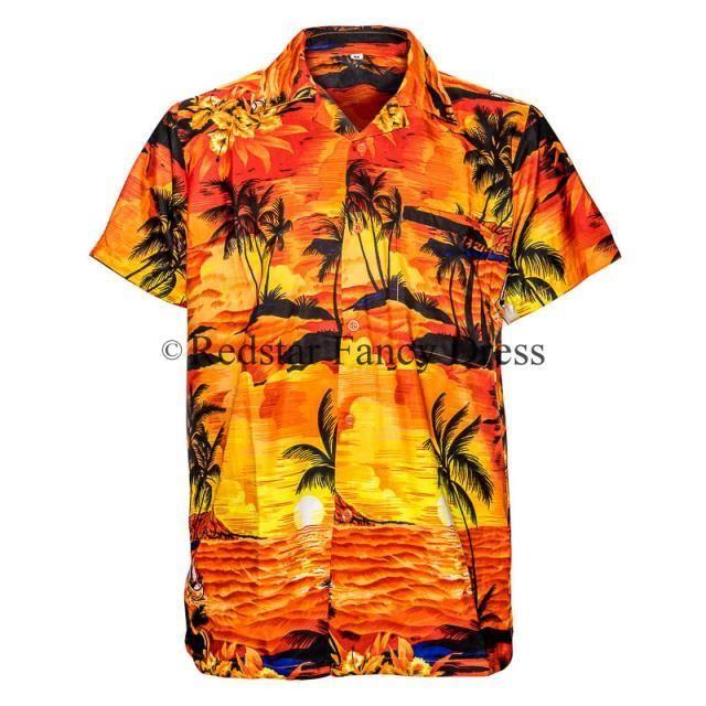 mens hawaiin shirts | MENS-HAWAIIAN-SHIRT-ALOHA-HAWAII-STAG-SUNSET-HOLIDAY-BEACH-POOL-PARTY ...
