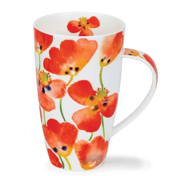 Mug Dunoon Henley Poppyfield Red 0 6l Becher Geschirr