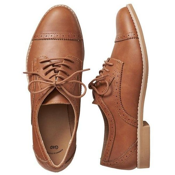 Gap Women Factory Oxfords ($40) ❤ liked on Polyvore featuring shoes, oxfords, vegan oxford shoes, lace up oxfords, round toe shoes, oxford shoes and gap shoes