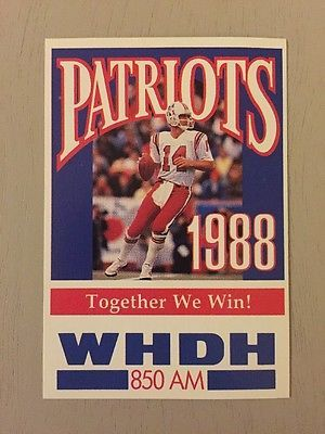 1988 NFL NEW ENGLAND PATRIOTS  POCKET SCHEDULE