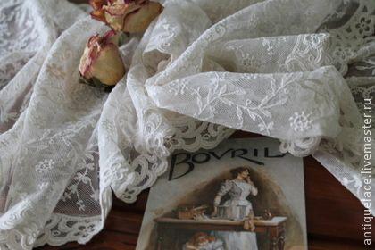 Старинная кружевная дорожка на стол. - бежевый,винтаж,винтажный стиль