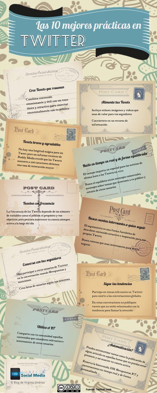 Las mejores practicas en Twitter #Infografia es español