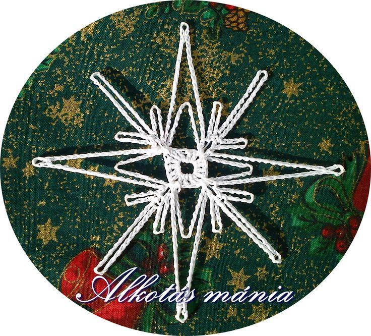 horgolt#dísz#karácsony#ünnep#csillag