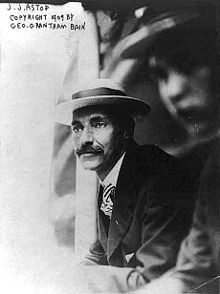 John Jacob Astor IV, born July 13, 1864, the son of Caroline Webster Schermerhorn Astor and William Backhouse Astor, Jr. At the age of 47, he married 18-year-old Madeleine Talmage Force. Five months pregnant when Titanic sank,  Madeleine Astor gave birth to his second son, John Jacob Astor VI on August 14, 1912.