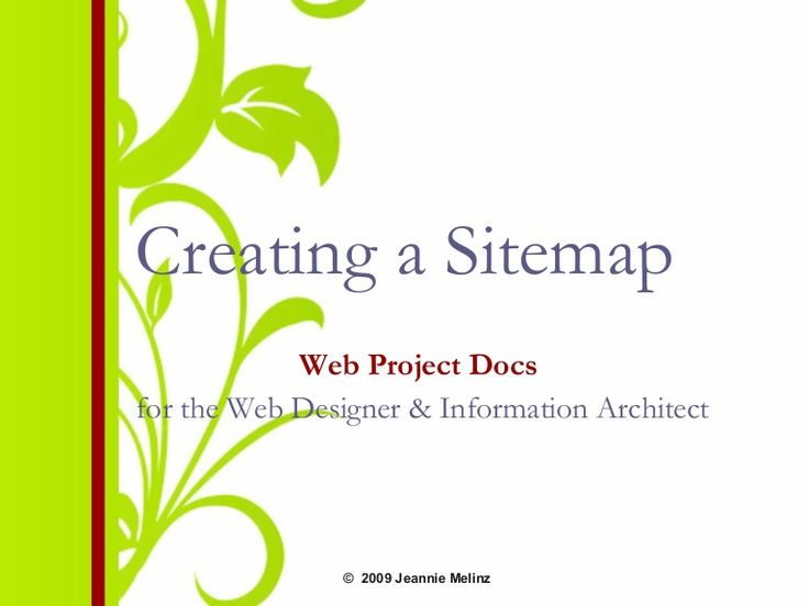 creating-a-website-sitemap by Jeannie Melinz via Slideshare
