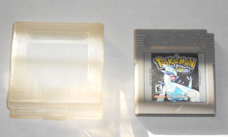 POKEMON SILVER Nintendo Game Boy Cart Only Tested Works Saves w Case GBA