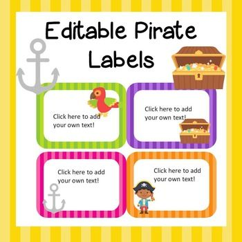 These fun labels are editable to suit your needs.  Name tags, notebook labels…