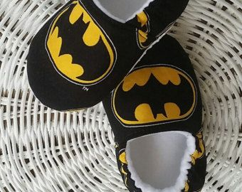 Marvel Comic Crib Shoes Black Widow Baby Moccs Baby by MarleyOcean