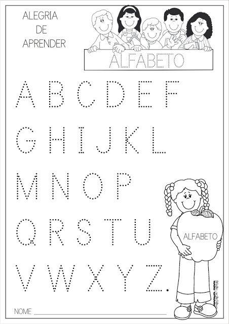Alfabeto Letra Pontilhada Letra Bastão