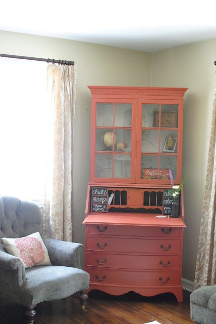 painted secretary desk with hutch - Google Search