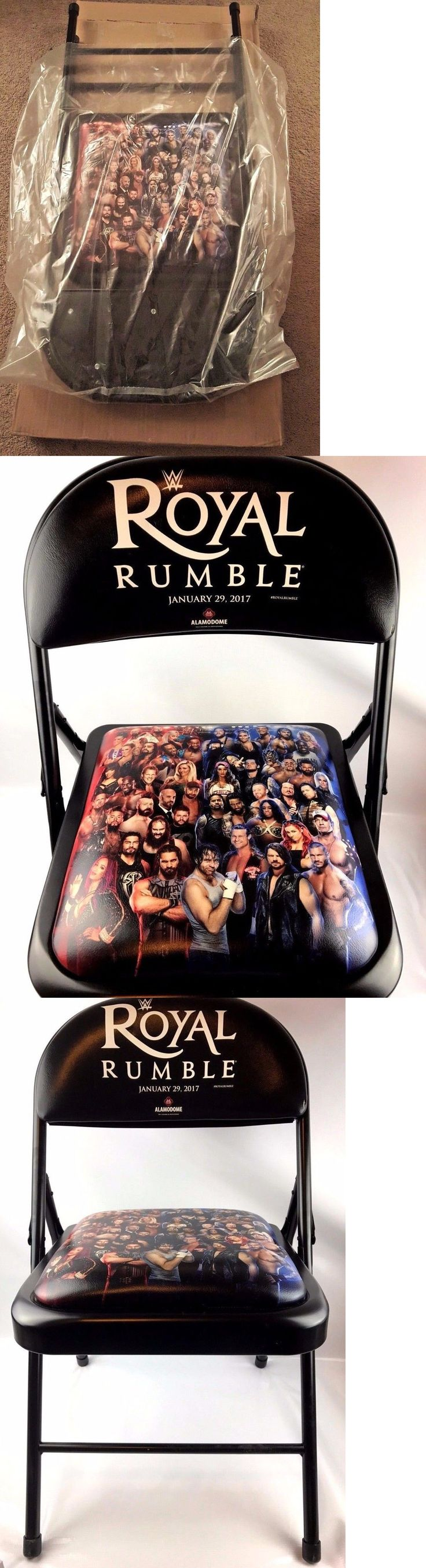 Wrestling 2902: Wwe Royal Rumble 2017 Ppv Ringside Commemorative Chair New Original Box -> BUY IT NOW ONLY: $149.99 on eBay!