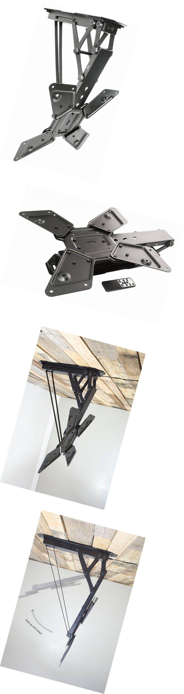 17 best ideas about tv mounting on pinterest mounted tv for Vivo electric motorized flip down pitched roof ceiling tv mount