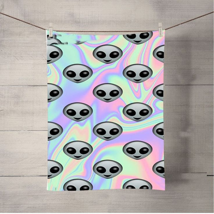 Tie Dye Alien Emoji Bath Towel Beach Towels