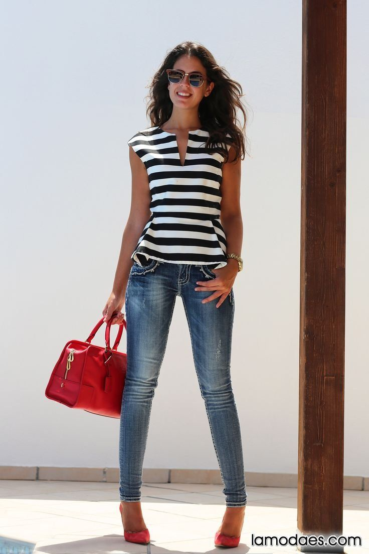 Blusas rayadas, Blusas con Lineas, te mostramos Como debes combinarlas correctamente para cada ocacion. Las blusas con rayas nunca pasan de moda y deben...