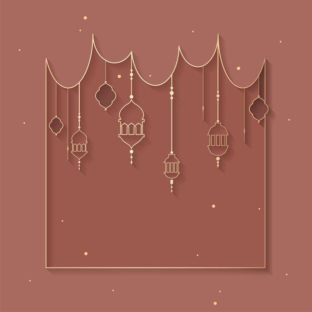 Download Ramadan Framed Background Design For Free Seni Dinding Buatan Sendiri Seni Islamis Desain Banner