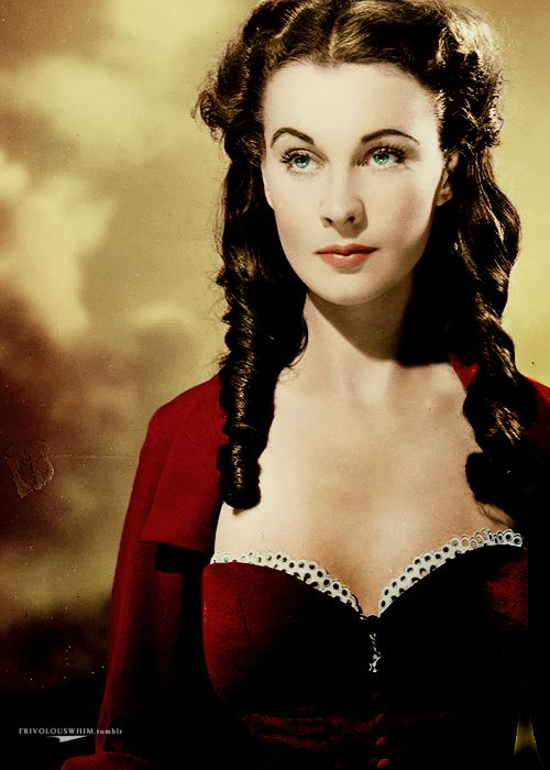 Vivien Leigh - gone with the wind, one of history's biggest most lovable bitches everrrr!!