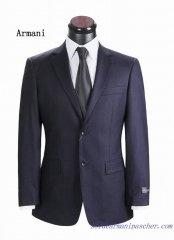 Costume à deux boutons Hommes Armani Bleu Foncé