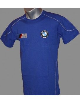 BMW MPower Blue T-Shirt with embroidered logos For €10.99 from http://autofanstore.com