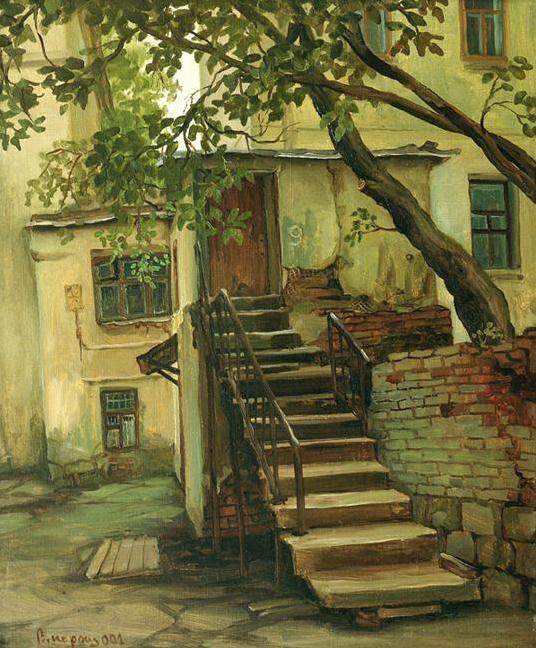Парошин Владимир. Старые дома в Последнем переулке