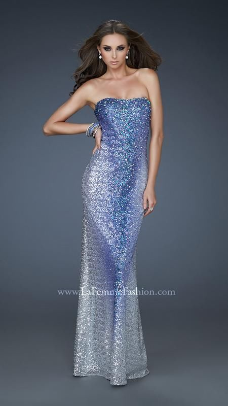 New Authentic La Femme Prom Dress 17915 Royal Blue/Silver sz 10 #LaFemme #BallGown #Cocktail