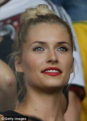 Carnival atmosphere: Lena Gercke watches Germany beat Brazil...