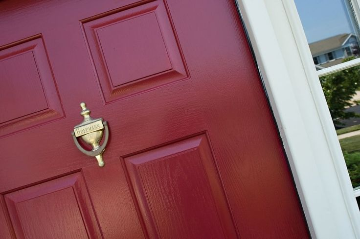 Red door color: Cinnamon Cherry by Behr. | Front door ...