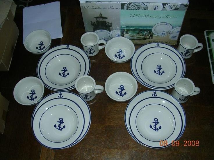 Nautical Dishes Products I Love Pinterest Nautical