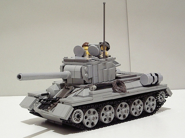 Russian T34 / 85 tank with crew #lego