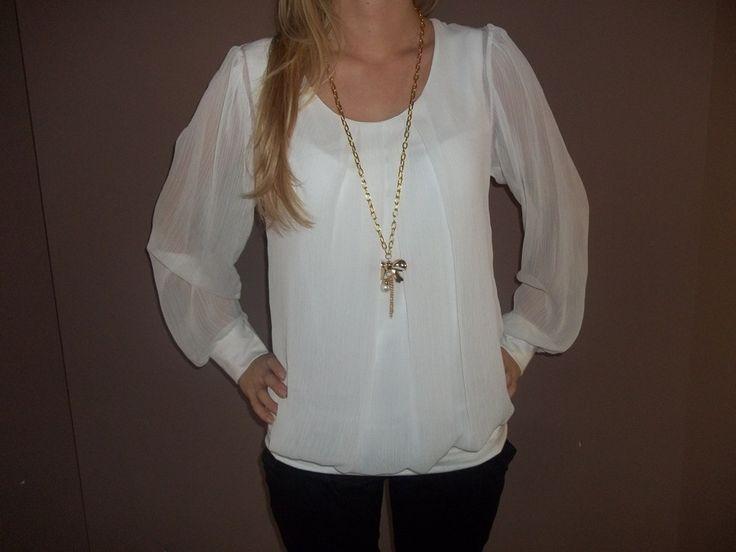 szyfon    Bluzka elegancka szyfon długi rękaw - Zdjęcie na imgED