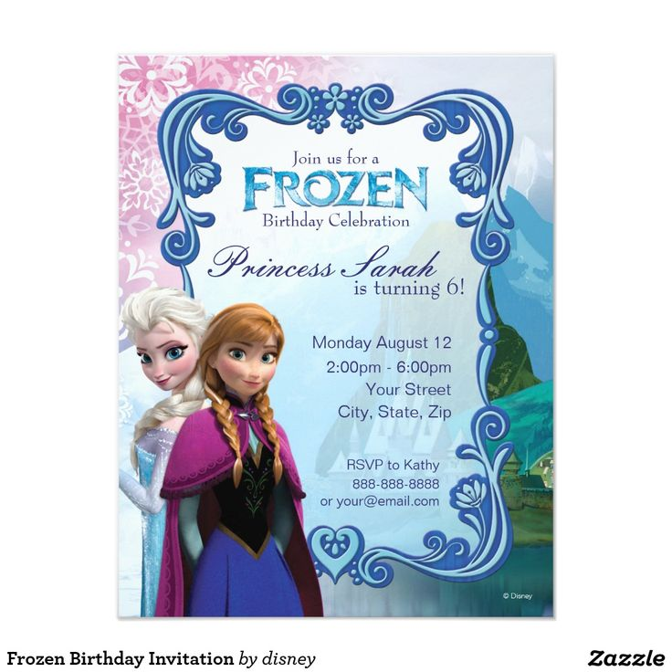 176 best birthday party images on pinterest birthday invitations frozen birthday invitation 425 x 55 invitation card stopboris Image collections