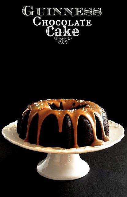Guinness Chocolate Cake with Salted Caramel Glaze! best Chocolate Cake EVER.  via www.thehungryhousewife.com