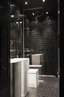 All Black Bathroom 71 Best Black Bathroom Images On Pinterest  Bathroom Ideas Room