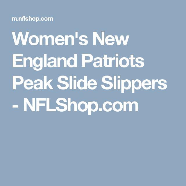 Women's New England Patriots Peak Slide Slippers - NFLShop.com