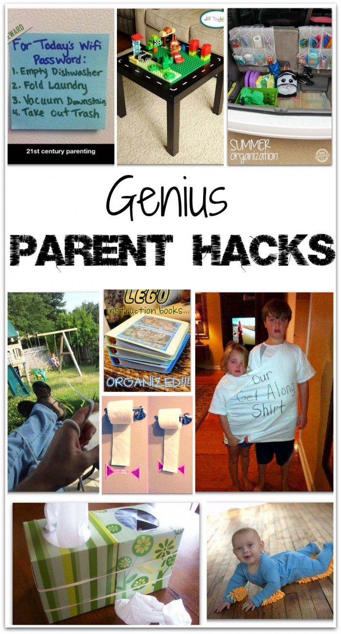 """Parent Hacks!! Which one is your favorite? My favorite is definitely the """"Our Get Along Shirt"""" (their faces are priceless!)"""