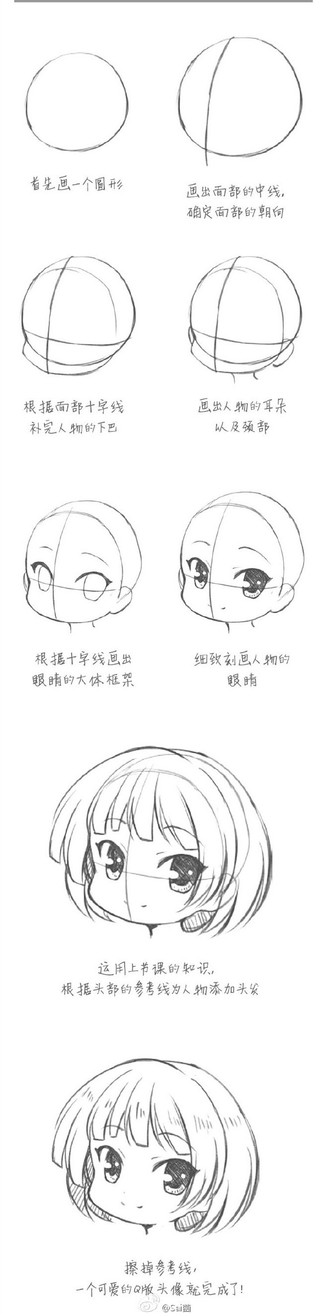 How To Draw A Chibi Girl Face