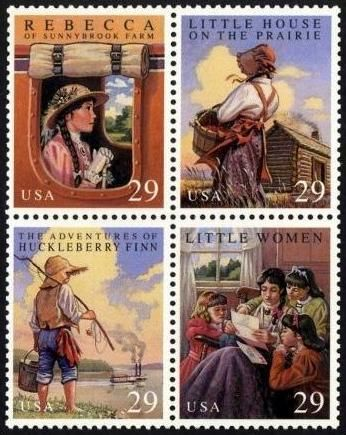 Set of stamps featuring Book Classics via  www.grandmas-stamps.info     these are beautiful…..my bastian has a stamp collection and i do not remember seeing these. i would sure like to have them!