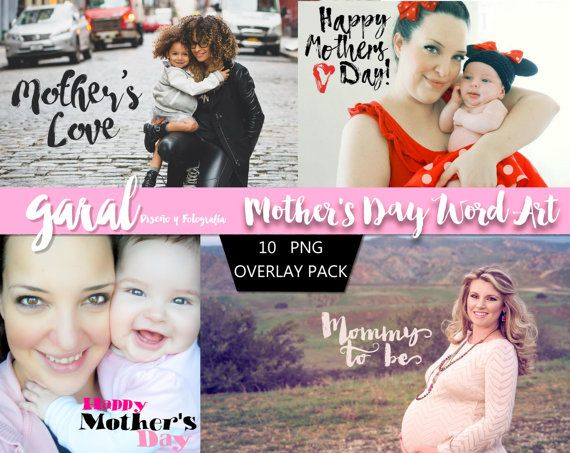 Mother's Day Wordart Photoshop Overlays Photoshop by marcegaral