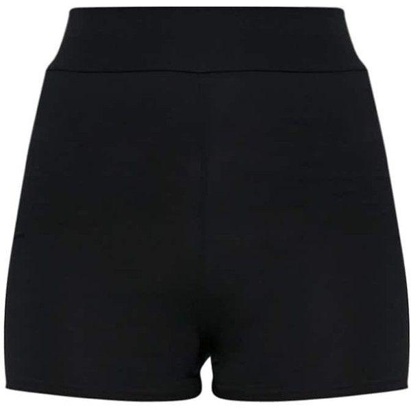 Basic Black High Waisted Shorts (122.720 VND) ❤ liked on Polyvore featuring shorts, high-rise shorts, high-waisted shorts, high rise shorts, basicgrey and highwaist shorts