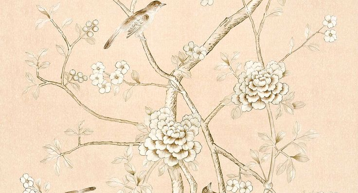 Mary McDonald for Schumacher Fabrics | Chinois Palais in Blush Conch
